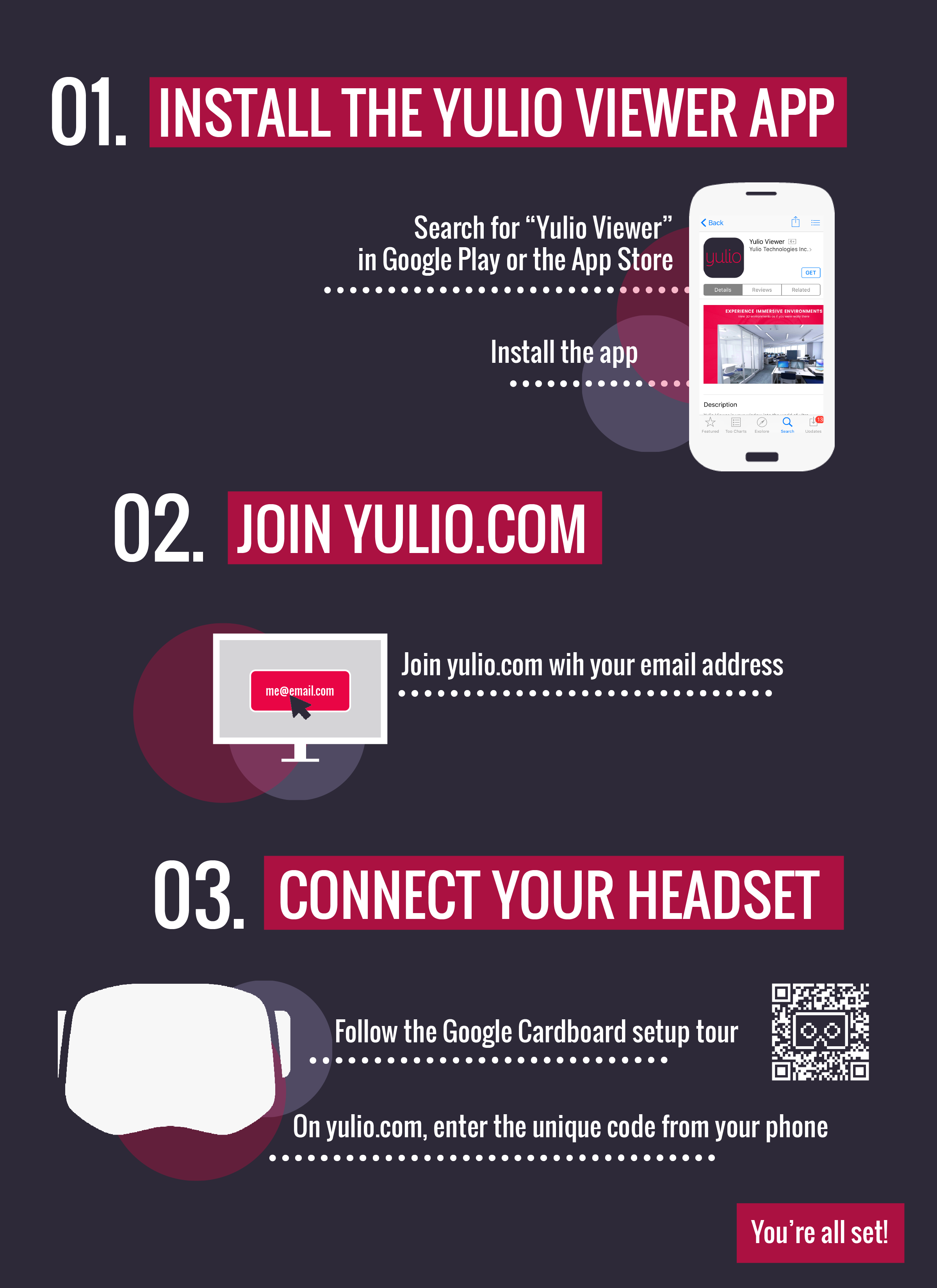 3 Steps to Yulio